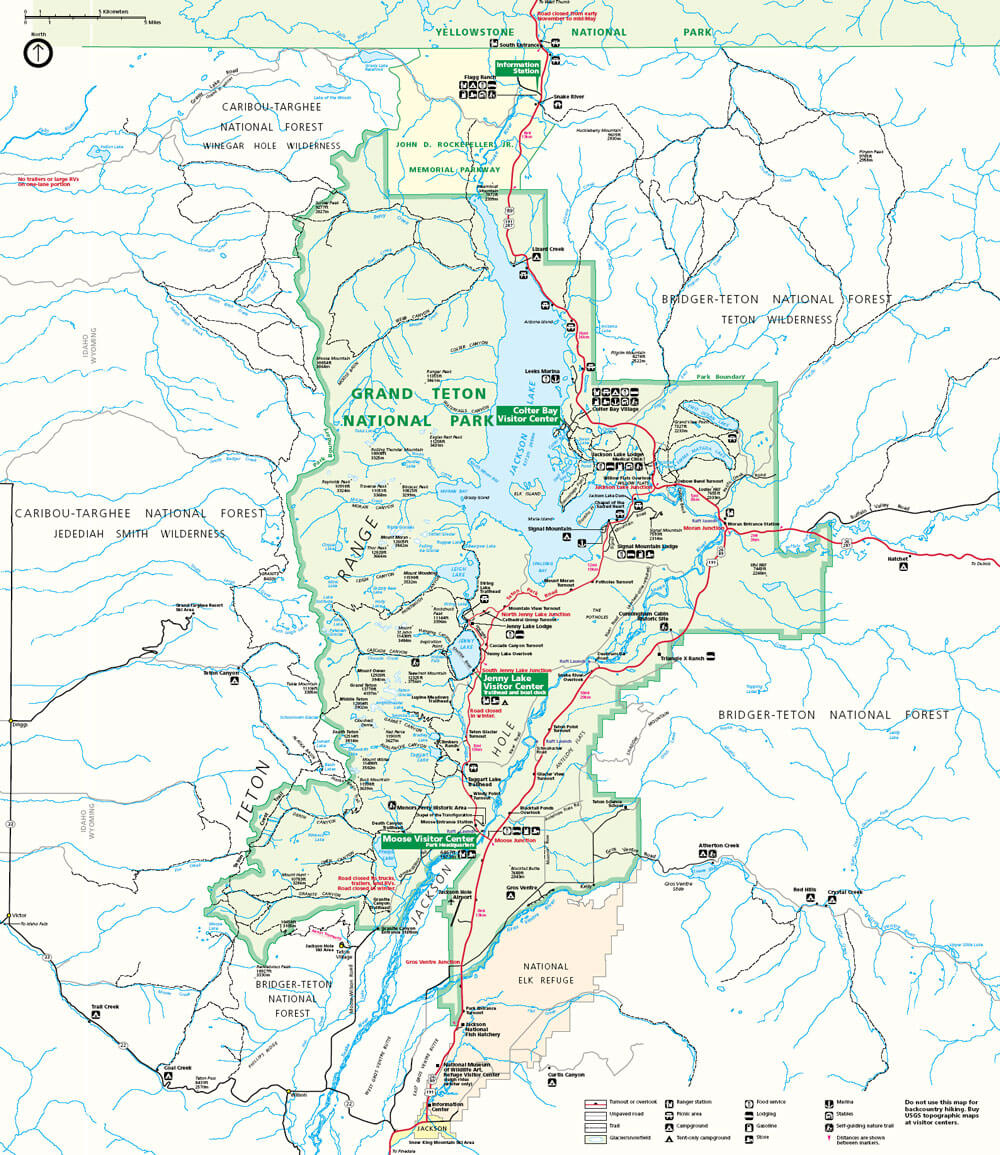 Grand Teton Map Jackson Hole WY
