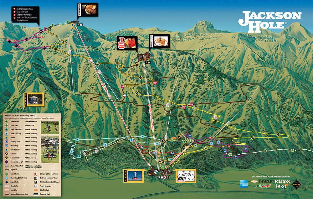 Jackson Hole Mountain Resort Summer Trail Map
